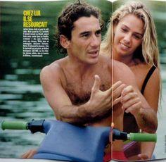 Ayrton Senna & Adriane Galisteu, Angra dos Reis, Rio de Janeiro - Brasil. Revista francesa.