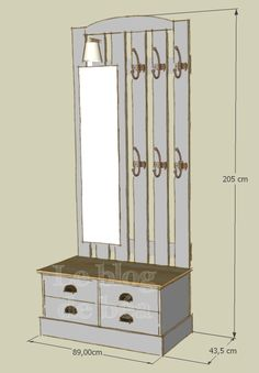 DIY locker entrance in - Wood Decora la Maison Woodworking Bar Clamps, Used Woodworking Machinery, Woodworking Table Plans, Woodworking Shows, Woodworking Apron, Woodworking Patterns, Woodworking Techniques, Woodworking Furniture, Coat And Shoe Storage