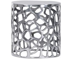 Ergänzen Sie Ihren Wohnraum mit praktischen Beistelltischen. Modell CORAL sorgt mit seiner runden Form und dem silberfarbenen Aluminiumgestell für glanzvolle Highlights. Das kunstvolle Gestell von CORAL steigert zusätzlich den Deko-Faktor in jedem Raum.