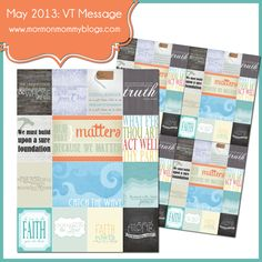 May 2013 Visiting Teaching Handout | Mormon Mommy Blogs