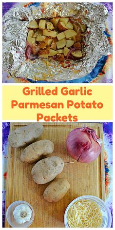Grilled Garlic Parmesan Potato Packets are an easy to make summer side dish. #potatoes #grilling #grilledfood   Grilled Food   Grilling Recipes   Potato Recipes   Easy Recipes   Summer Recipes Grilled Pork Loin, Grilled Food, Summer Side Dishes, Side Dishes Easy, Easy Summer Meals, Summer Recipes, Wedges Potato, Grilling Recipes, Picnic Recipes