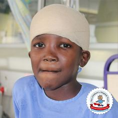Nokuluga's old grandson, Sibabalwe, was playing with friends in Mitchells Plain, Cape Town when one of them mistakenly hit him in the forehead with a golf club causing severe trauma to his skull. Read more by visiting our website below. Head Injury, Doctor In, Childrens Hospital, Red Cross, Cape Town, Trauma, Skull, Golf, Club