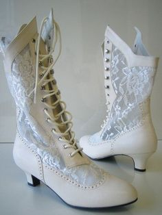I like that they're fancy, but also made of lace, so cooler than other potential shoes that day.