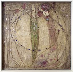 'The White Rose and the Red Rose' by Margaret MacDonald, 1902 (Hunterian Art Gallery Mackintosh collections)