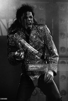 Michael Jackson live on stage at Kuip in Rotterdam, Holland on the Dangerous Tour on June 30 1992.
