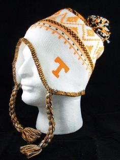 ADIDAS NCAA University of Tennessee Tassel Knit Beanie Alpine Flaps Skully UEC #adidas #UniversityofTennessee