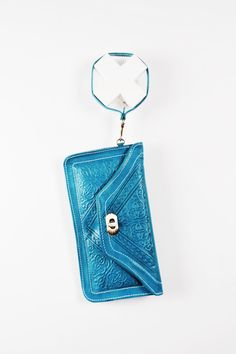 Ocean Wristlet - Embossed Leather, made in Morocco.
