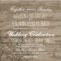 Shop Rustic Wood Country Wedding Invitations created by RusticCountryWedding. Wedding Invitation Size, Wedding Invitations Online, Country Wedding Invitations, Wedding Invitation Templates, Country Wedding Cakes, Fall Wedding Cakes, Country Engagement, Fall Engagement, Engagement Pictures