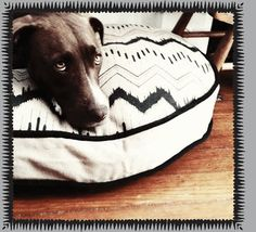 ikat pet bed by see scout sleep