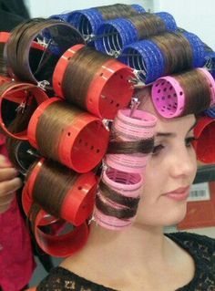 Updo Styles, Long Hair Styles, Hair Curlers Rollers, Wet Set, Hair Setting, Roller Set, Very Long Hair, Vintage Glamour, Beauty Shop