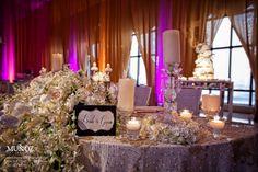 Wedding dinner decor inspiration in the Venetian Ballroom