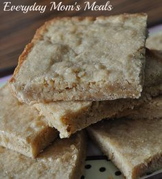 Chewy Peanut Butter Bars....might have to add chocolate to this one!