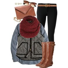 A fashion look from November 2014 featuring J.Crew tops, J.Crew vests and Gucci jeans. Browse and shop related looks.