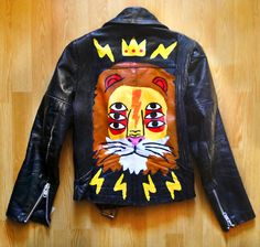 Ricardo Cavolo, hand painted leather jacket... lion!