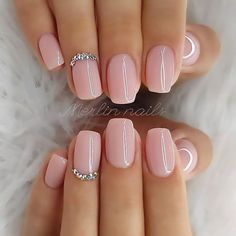 nails one color summer ~ nails one color ; nails one color simple ; nails one color acrylic ; nails one color summer ; nails one color winter ; nails one color short ; nails one color gel ; nails one color matte Natural Acrylic Nails, Best Acrylic Nails, Short Natural Nails, Wedding Acrylic Nails, Baby Pink Nails Acrylic, Natural Color Nails, Baby Pink Nails With Glitter, Acrylic Summer Nails Almond, Blush Pink Nails