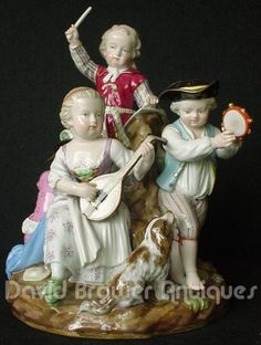 Meissen musical group of children. 1880