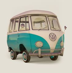 Kombi Cartoon by Marlos Lima, via Behance