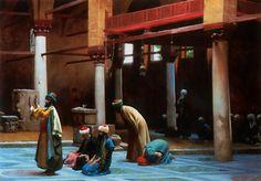 prayer in the mosque - Jean-Leon Gerome (Jean Leon Gerome)