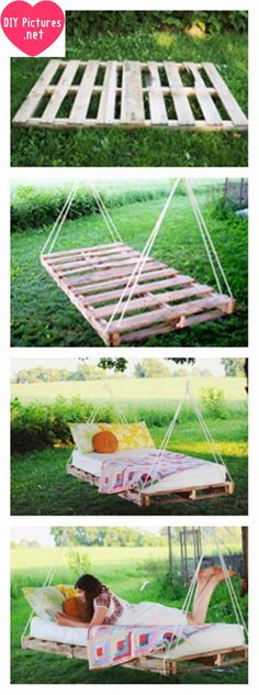 DIY Bookshelves Ideas We will make a hammock. Use for good days! Let's don't much talk and start make it  One piece wooden. You will spread to linens. A pillow and a bed. That's all we need. The…
