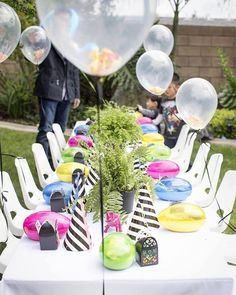 Kids Tablescape from a Two-A-Saurus Dinosaur Garden Party via Kara's Party Ideas | KarasPartyIdeas.com | The Place for All Things Party! (2)