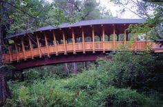 Bridge at Pondicherry Park in Bridgton, Maine - never knew about this- gotta see it!