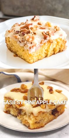Easiest Pineapple Cake is a one bowl wonder made without oil or butter in the homemade cake batter. Easiest Pineapple Cake is a one bowl wonder made without oil or butter in the homemade cake batter. Easy Cake Recipes, Easy Desserts, Cookie Recipes, Delicious Desserts, Cajun Desserts, German Cakes Recipes, Baking Recipes, Easy Pineapple Cake, Pineapple Desserts