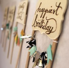 DIY Bunting Banner Cake Toppers