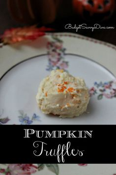 Very easy fall dessert. I made 10 of these truffles and by the time I went to photograph it there was only one left!