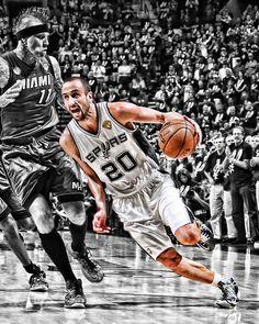 RareInk Manu San Antonio Spurs