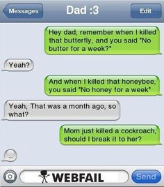 iPhone Fail - Hey Dad - Fail Picture