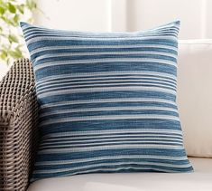"Melilla Indoor/Outdoor Pillow, 20"", Blue Multi"