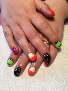 Halloween gel polish using supernail progel gel polish x