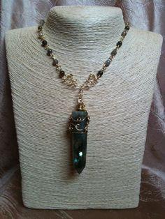 Labradorite Point Necklace by EnchantedAutumn2012 on Etsy, $30.00