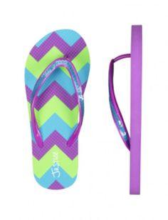 Chevron Stripe Flip Flops   Girls Flip Flops Shoes   Shop Justice