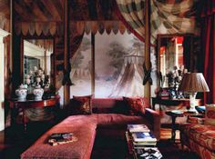 How to decorate a living room in the Bohemian Style. From Homes and Gardens UK home decorating magazine