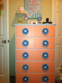 DIY painted girls dresser
