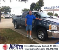 Thank you to Bobby Thompson on the 2013 Chevrolet Silverado 1500 from Michelle Hooper and everyone at Jupiter Chevrolet!