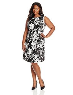 Anne Klein Women's Plus-Size Printed Pique A Line Dress, White/Black, 22 Anne Klein http://www.amazon.com/dp/B00T9EQZTS/ref=cm_sw_r_pi_dp_SS3Vwb1RP055P