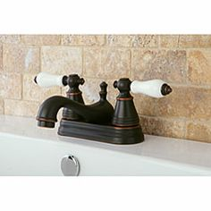Oil Rubbed Bronze Bathroom Faucet  i like this too