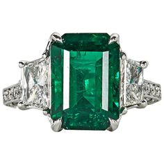 Very Fine GIA Emerald Diamond platinum Ring 1 Platinum Diamond Rings, Platinum Jewelry, Emerald Jewelry, Emerald Diamond, Diamond Jewelry, Emerald Rings, Gold Rings, Ruby Rings, Green Diamond