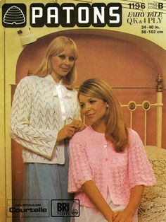 Vintage Ladies Bed Jackets Ribbon Trimmed and by LittleJohn2003