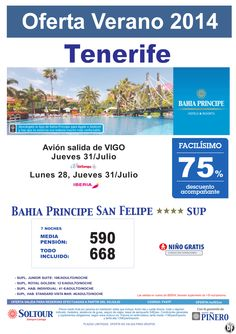 Tenerife: 75% Bahia Principe San Felipe salidas desde Vigo ultimo minuto - http://zocotours.com/tenerife-75-bahia-principe-san-felipe-salidas-desde-vigo-ultimo-minuto/