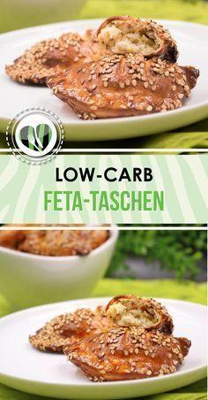 Die low-carb Feta-Taschen sind lecker und eignen sich perfekt als Snack. Außerdem sind sie auch noch glutenfrei.