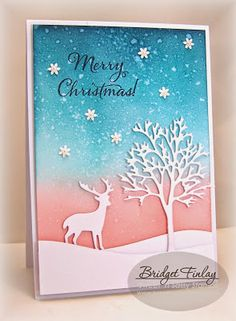 Sweet 'n Sassy Stamps used: Bare Tree Die, Forest Silhouettes Dies, Christmas Light Set.