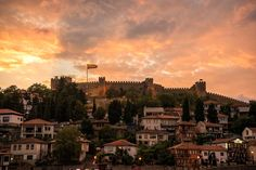 2 - Sunset over de fortress in Ohrid  - Macedonia