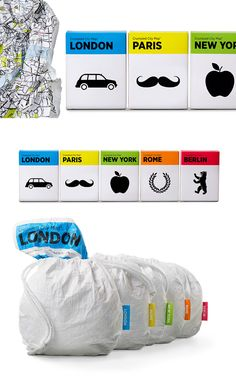 Berlin based graphic designer Alvvino designed the packaging for Crumpled City Maps via: thedieline.com