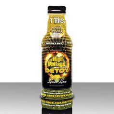 High Voltage Detox 16oz Lemon Lime Liquid ONE SHOT - TASTES GREAT - WORKS FAST! Premium Detox that flushes ALL your UNWANTED toxins.  #detox #HighVoltageDetox #cleanse #liquids #toxinfree #health #supplements