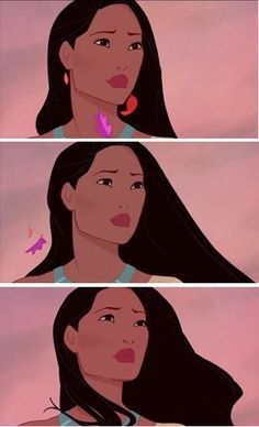 Look at the brave face she puts up-Pocahontas is saying goodbye to the only… Disney Pixar, Walt Disney, Disney Girls, Disney And Dreamworks, Disney Animation, Animation Film, Disney Love, Disney Magic, Disney Characters