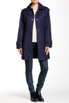 Turnkey Raincoat by Anne Klein on @HauteLook