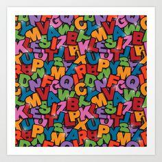 Conundrum art pattern print by Matt Andrews at Society 6.